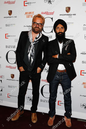 Johan Lindeberg and Waris Ahluwalia attends the New York premiere of Mademoiselle C presented by Cohen Media and sponsored by Absolute Elyx, LoveGold, and The Hollywood Reporter at the Florence Gould Hall on in New York