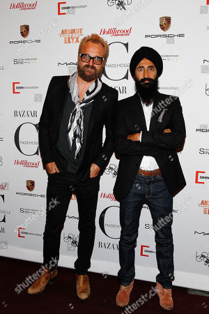 Johan Lindeberg and Waris Ahluwalia attends the premiere of Mademoiselle C at the Florence Gould Hall on in New York
