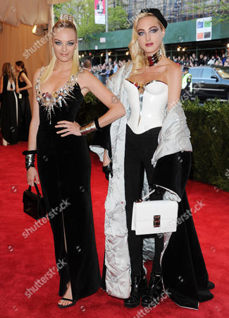 """Virginie Courtin-Clarins and Claire Courtin-Clarins attend The Metropolitan Museum of Art's Costume Institute benefit celebrating """"PUNK: Chaos to Couture"""" on in New York"""