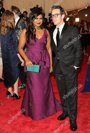 "Mindy Kaling, and B. J. Novak attend The Metropolitan Museum of Art Costume Institute gala benefit, ""Punk: Chaos to Couture"", on in New York"