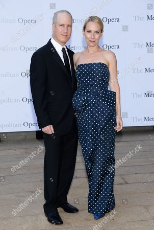 "Actress Amy Ryan and husband Eric Slovin attend the Metropolitan Opera 2014-15 season opening production of Mozart's ""Marriage of Figaro"" at Lincoln Center, in New York"