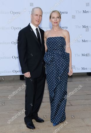 "Stock Picture of Actress Amy Ryan and husband Eric Slovin attend the Metropolitan Opera 2014-15 season opening production of Mozart's ""Marriage of Figaro"" at Lincoln Center, in New York"