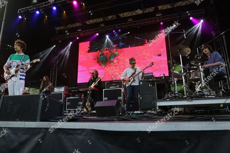 Party in the Park 2014 Andrew VanWyngarden and Benjamin Goldwasser with MGMT performing at Party in the Park, in Atlanta