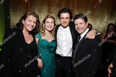 Christine Harrell, Alexandra Astin, Orlando Bloom and Sean Astin seen at New Line Cinema Premiere of 'The Hobbit: The Desolation of Smaug', held at the Dolby Theatre on in Los Angeles