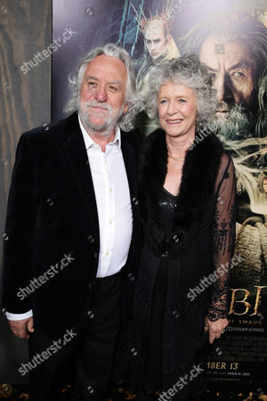 Production designer Dan Hennah and Chris Hennah seen at New Line Cinema Premiere of 'The Hobbit: The Desolation of Smaug', held at the Dolby Theatre on in Los Angeles