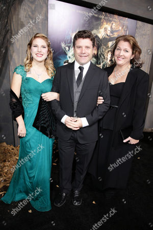 Alexandra Astin, Sean Astin and Christine Harrell seen at New Line Cinema Premiere of 'The Hobbit: The Desolation of Smaug', held at the Dolby Theatre on in Los Angeles