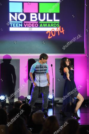 Daniel Peter and Manon Mathews are seen at the No Bull 2014 Teen Video Awards at The Westin Hotel on in Los Angeles, California