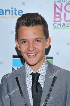 Actor Noah Urrea is seen at the No Bull 2014 Teen Video Awards at The Westin Hotel on in Los Angeles, California