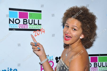 Rapper Lela Brown is seen at the No Bull 2014 Teen Video Awards at The Westin Hotel on in Los Angeles, California