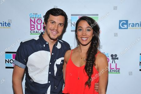 Singers Alex Kinsey (L) and Sierra Deaton are seen at the No Bull 2014 Teen Video Awards at The Westin Hotel on in Los Angeles, California