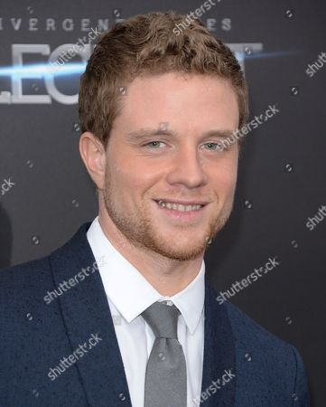 """Stock Photo of Jonny Weston attends the premiere of """"Allegiant"""" at AMC Lincoln Square, in New York"""
