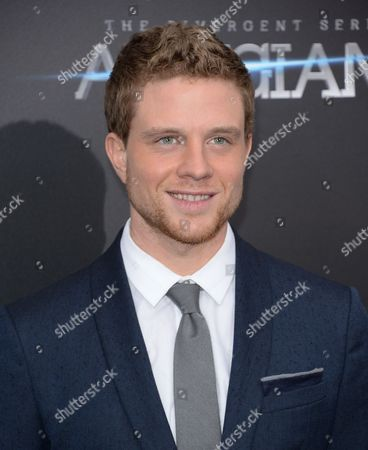 """Stock Picture of Jonny Weston attends the premiere of """"Allegiant"""" at AMC Lincoln Square, in New York"""