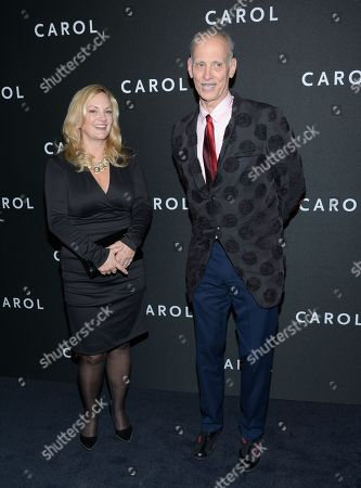"""Patricia Hearst and John Waters attend the premiere of """"Carol"""" at the Museum of Modern Art, in New York"""