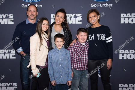 "Kristine Johnson, right, and family attend the premiere of ""Daddy's Home"" at AMC Loews Lincoln Square, in New York"