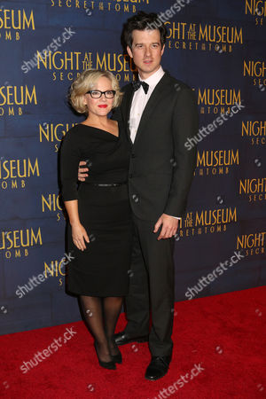 """Rachael Harris and Christian Hebel attend the premiere of """"Night at the Museum: Secret of the Tomb"""" at the Ziegfeld Theatre on in New York"""