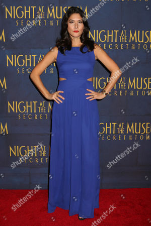 """Mizuo Peck attends the premiere of """"Night at the Museum: Secret of the Tomb"""" at the Ziegfeld Theatre on in New York"""