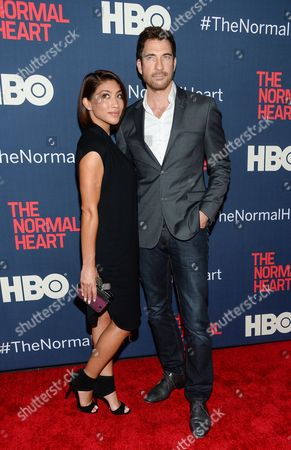 "Stock Picture of Dylan McDermott and girlfriend Shasi Wells attend the premiere of HBO Films' ""The Normal Heart"" at the Ziegfeld Theatre, in New York"