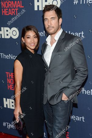 "Stock Photo of Dylan McDermott and girlfriend Shasi Wells attend the premiere of HBO Films' ""The Normal Heart"" at the Ziegfeld Theatre, in New York"