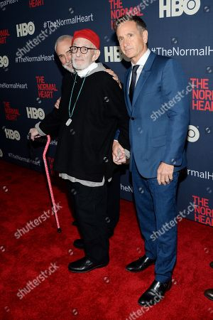 "Playwright Larry Kramer and Dante Di Loreto attendthe premiere of HBO Films' ""The Normal Heart"" at the Ziegfeld Theatre, in New York"