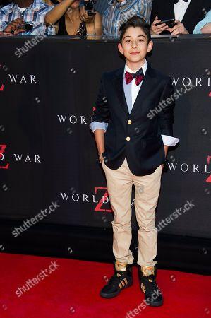 "Fabrizio Zacharee Guido attends the ""World War Z"" premiere on in New York"