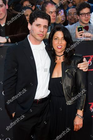 """Author Max Brooks and Michelle Brooks attend the """"World War Z"""" premiere on in New York"""