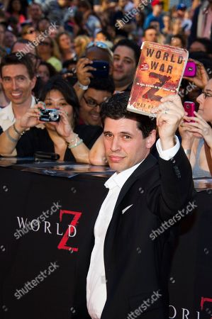 """Author Max Brooks attends the """"World War Z"""" premiere, in New York"""