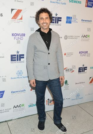 """Ethan Zohn attends a preview screening of """"Cancer: The Emperor of All Maladies"""" at the Time Warner Center, in New York. The three-part series will premiere on PBS on Monday, March 30, 2015"""