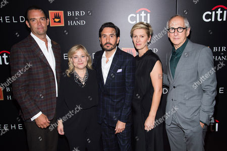 """Jack Selby, left, Julie Goldstein, Peter Sollett, Kelly Bush, Novak and Michael Shamberg attend a special screening of """"Freeheld"""" at The Museum of Modern Art, in New York"""