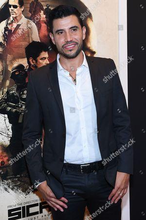 "Actor Bernardo Saracino attends a special screening of ""Sicario"" at The Museum of Modern Art, in New York"