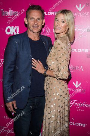 Josh Taekman and Kristen Taekman attend OK! Magazine's So Sexy Party at Tao Downtown, in New York