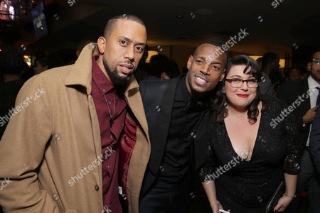 Affion Crockett, Writer/Producer/Actor Marlon Wayans and Jenny Zigrino seen at Open Road Films Premiere of 'Fifty Shades of Black' at Regal L.A. Live, in Los Angeles, CA