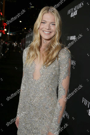 Kate Miner seen at Open Road Films Premiere of 'Fifty Shades of Black' at Regal L.A. Live, in Los Angeles, CA