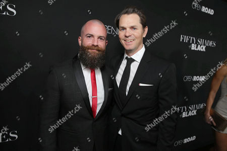 Director/Producer Michael Tiddes and Jason Cassidy, Chief Marketing Officer of Open Road Films, seen at Open Road Films Premiere of 'Fifty Shades of Black' at Regal L.A. Live, in Los Angeles, CA