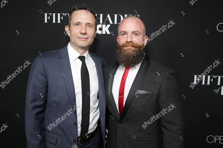Writer/Producer Rick Alvarez and Director/Producer Michael Tiddes seen at Open Road Films Premiere of 'Fifty Shades of Black' at Regal L.A. Live, in Los Angeles, CA