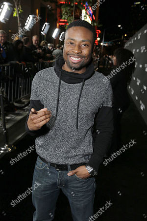 Justin Hires seen at Open Road Films Premiere of 'Fifty Shades of Black' at Regal L.A. Live, in Los Angeles, CA