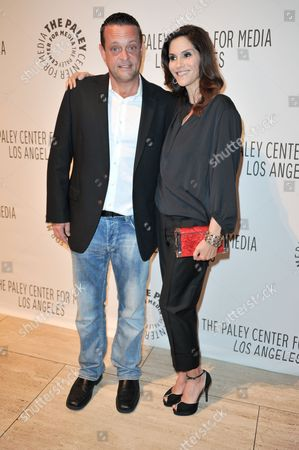Lenny Venito, left and Jami Gertz attends the PaleyFest Fall TV Preview Party for ABC at The Paley Center for Media, in Beverly Hills, Calif