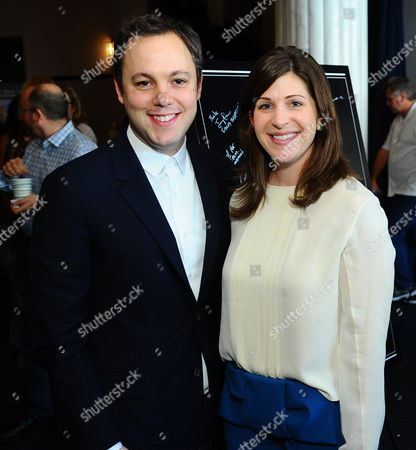 Ido Ostrowsky, left, and Nora Grossman attend the Producers Guild Awards Nominees Breakfast hosted by The Hollywood Reporter at the Saban Theatre, in Los Angeles