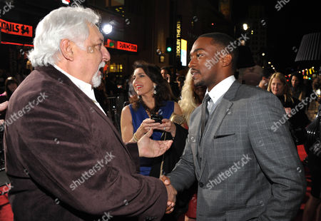 """Michael Tadross and Anthony Mackie attend the LA premiere of """"Gangster Squad"""" at Grauman's Chinese Theater, in Los Angeles"""