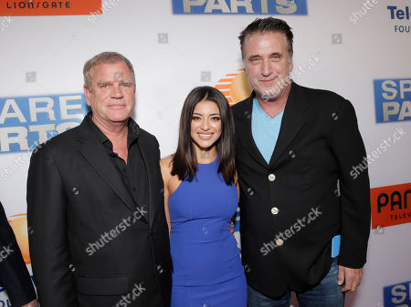 "Greg Hannley, Mayra Leal and Billy Baldwin attend the Los Angeles Premiere of Pantelion Films' ""Spare Parts"" at Arclight Cinemas, in Los Angeles"