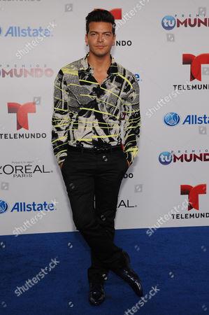 Stock Photo of Adrian Carvajal attends Telemundo's Premios Tu Mundo Awards at American Airlines Arena on in Miami, Florida