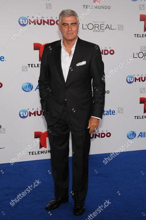 Stock Photo of Saul Lisazo attends Telemundo's Premios Tu Mundo Awards at American Airlines Arena on in Miami, Florida