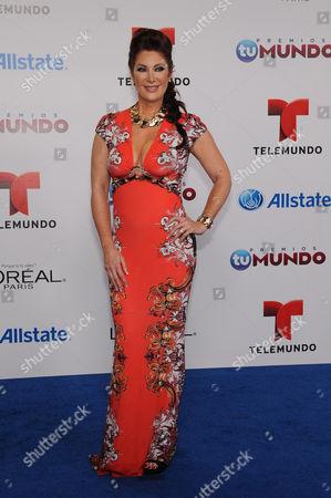 Stock Photo of Felicia Mercado attends Telemundo's Premios Tu Mundo Awards at American Airlines Arena on in Miami, Florida