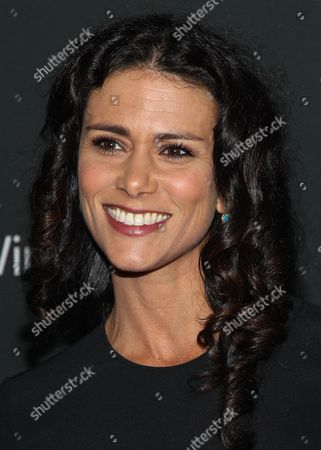 """Actress Melissa Ponzio arrives at the season 4 premiere of """"The Walking Dead"""" at the AMC Universal Citywalk Stadium 19/IMAX on in Universal City, Calif"""