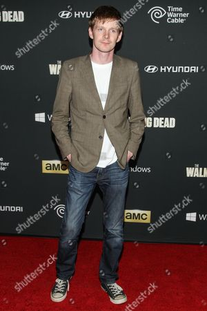 "Actor Ben Esler arrives at the season 4 premiere of ""The Walking Dead"" at the AMC Universal Citywalk Stadium 19/IMAX on in Universal City, Calif"