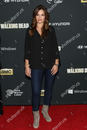 """Stock Photo of Actress Gloria Votsis arrives at the season 4 premiere of """"The Walking Dead"""" at the AMC Universal Citywalk Stadium 19/IMAX on in Universal City, Calif"""