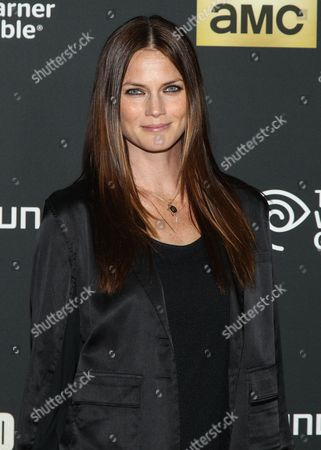 """Stock Image of Model Mini Anden arrives at the season 4 premiere of """"The Walking Dead"""" at the AMC Universal Citywalk Stadium 19/IMAX on in Universal City, Calif"""