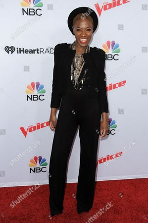 "Editorial photo of Season 8 of ""The Voice"" Red Carpet Event, West Hollywood, USA"