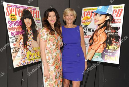 """Stock Picture of Editor-in-Chief of Seventeen Ann Shoket, left, and publisher Jayne Jamison attend Seventeen Magazine's 3rd annual """"Pretty Amazing"""" event at Hearst Tower on in New York"""