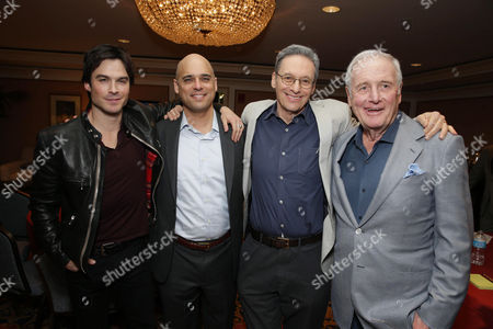 EXCLUSIVE CONTENT - PREMIUM RATES APPLY Ian Somerhalder, Executive Producer/Climate Expert Daniel Abbasi, Executive Producer David Gelber and Executive Producer Jerry Weintraub seen at Showtime's 2014 Winter TCA, on in Pasadena, Calif