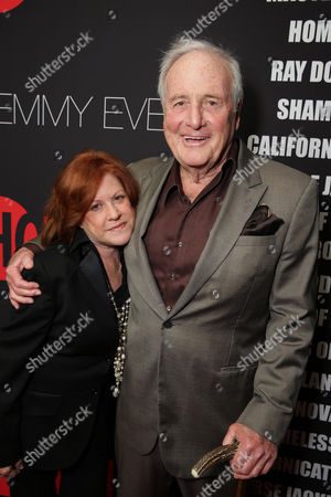 Susan Ekins and Jerry Weintraub seen at Showtime's 2014 Emmy Eve Soiree held at the Sunset Tower Hotel, in Los Angeles